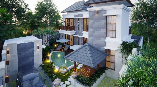 Desain Exterior 1 Villa Style Villa Bali 2 Lantai Bapak Mayor di Jimbaran, Bali