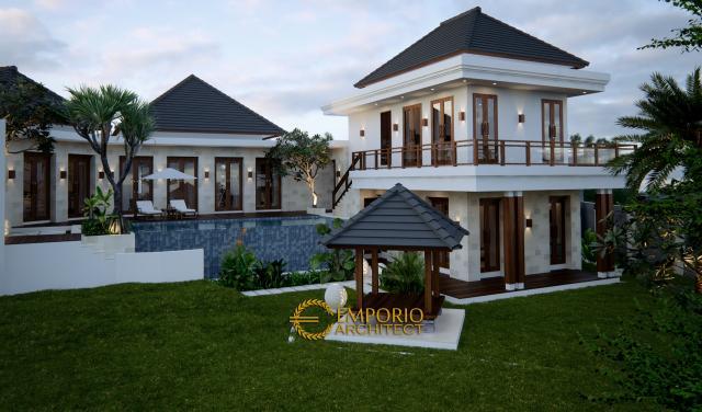 Desain Exterior Villa Style Villa Bali 2 Lantai Ibu Ni Luh di Ubud, Bali
