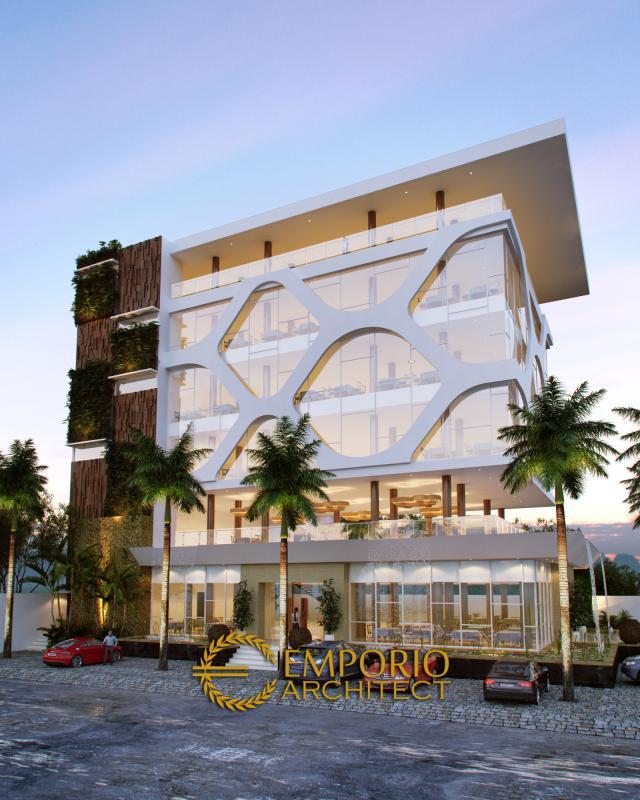Desain Exterior 2 Restoran Modern 6 Lantai Bapak Rudi Antoni di Banjarbaru, Kalimantan Selatan