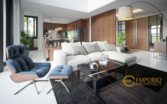 Desain Ruang Keluarga Rumah Bapak Abdul Hakim di Jakarta