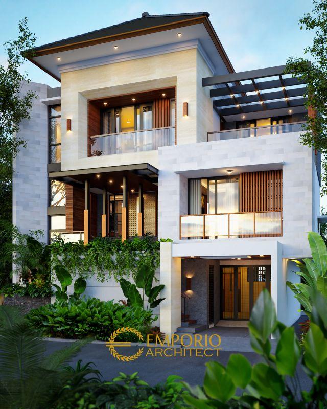 Desain Rumah Modern 3 Lantai Bapak Abdul Hakim di Jakarta