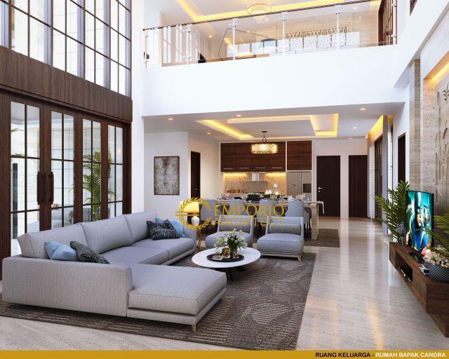 Desain Ruang Keluarga Rumah Bapak Chandra di Jakarta
