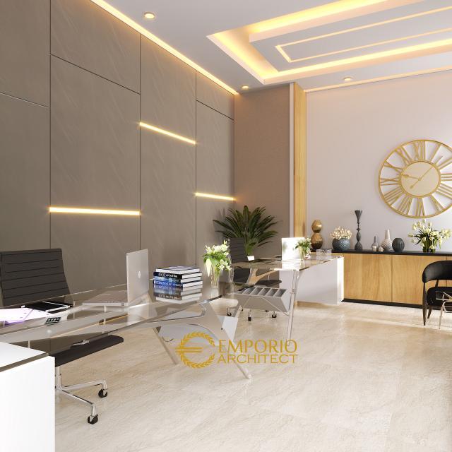 Desain Ruang Kerja Rumah Modern 2 Lantai Bapak Frangky di Jakarta