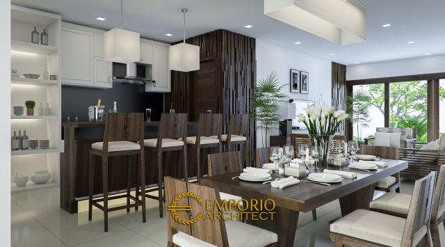 Desain Dapur dan Ruang Makan Rumah Villa Bali 1 Lantai Bapak Hasiholan di Medan