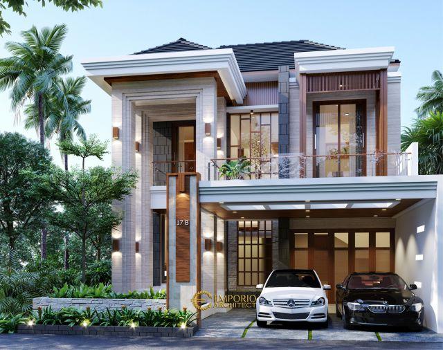 Desain Rumah Modern 2 Lantai Bapak Henry di Jakarta