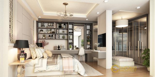 Desain Kamar Tidur Rumah Modern 2 Lantai Bapak Ricky di Bekasi