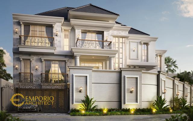Desain Rumah Classic 3 Lantai Ibu Jennifer di Jakarta
