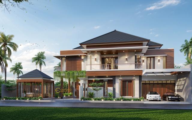 Desain Tampak Depan Rumah Modern 2 Lantai Ibu Ella di Jakarta Selatan