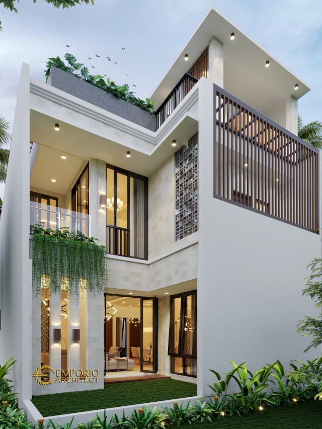Desain Tampak Belakang Rumah Modern 3 Lantai Bapak Donny di Jakarta Timur