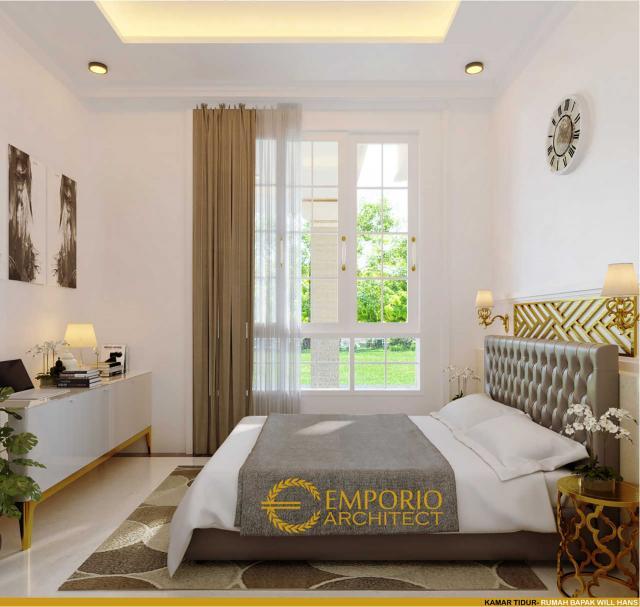 Desain Kamar Tidur Rumah Hook Classic 3 Lantai Bapak Will Hans di Jakarta Timur