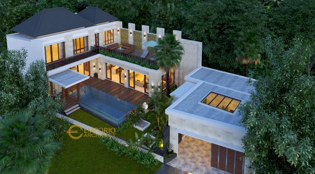 Desain Exterior 2 Rumah Villa Bali 2 Lantai Bapak Setiawan di Jimbaran, Badung, Bali
