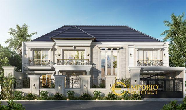 Desain Rumah Classic 2 Lantai Ibu Zaitin di Kalimantan Selatan