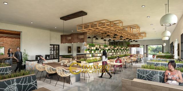 Desain Interior 1 Restoran Modern 1 Lantai Bapak Ahmad di Karawang, Jawa Barat