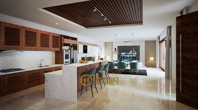 Desain Dapur Kompleks Villa Modern 2 Lantai Ibu Lenny (Seminyak East Development) di Kerobokan, Badung, Bali