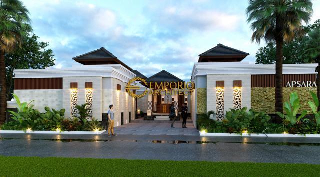 Desain Exterior 1 Apsara Villa Style Villa Bali 1 Lantai di Badung, Bali