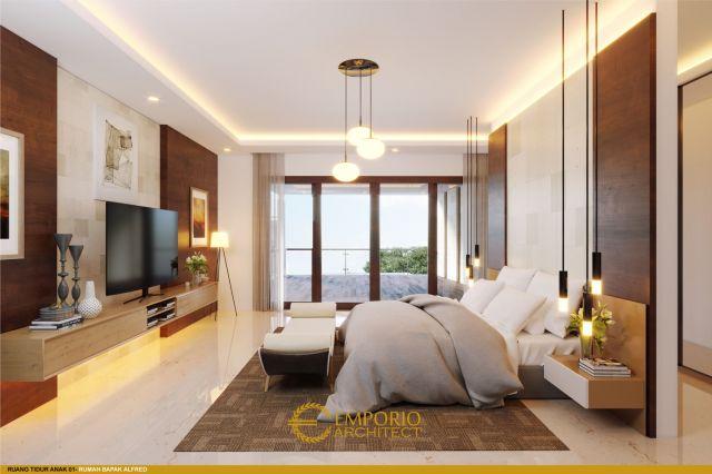 Desain Kamar Tidur Rumah Bapak Alfred di Makassar