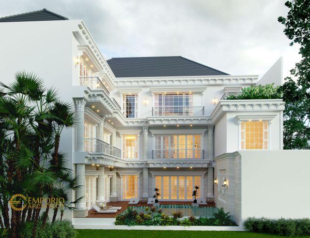 Desain Rumah Classic 3 Lantai Bapak Yasir di Makassar, Sulawesi Selatan