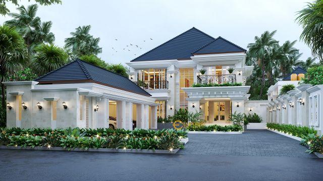 Desain Rumah Classic 2 Lantai Bapak Hendra di Medan