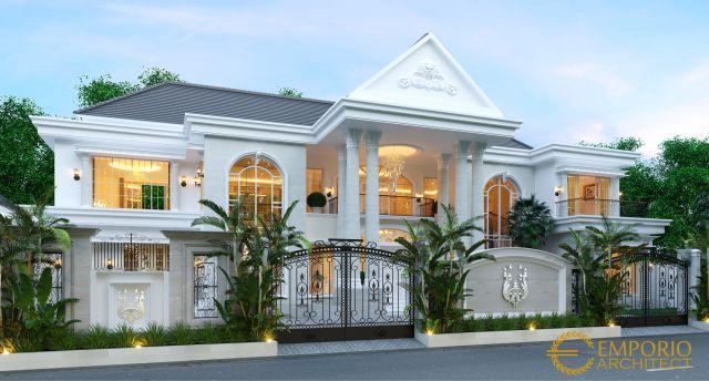 Desain Rumah Classic 2 Lantai Bapak Joni di Padang