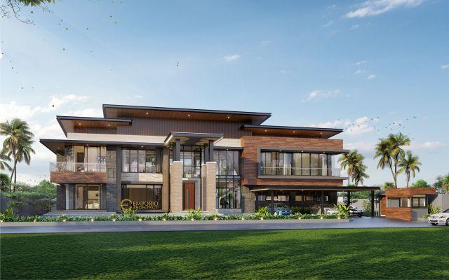 Desain Rumah Modern 2 Lantai Bapak Abarham di Palembang, Sumatera Selatan