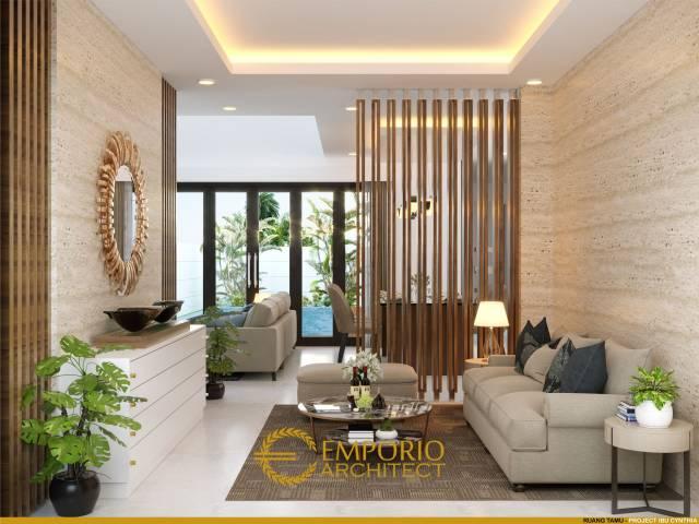 Desain Ruang Tamu Rumah Ibu Cynthia Angraini Tampubolon di Pekanbaru, Riau