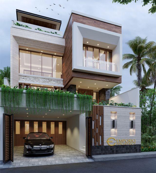 Desain Rumah Modern 2 Lantai Bapak Vendi di Petitenget, Badung, Bali