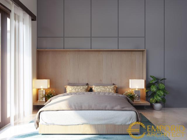Desain Kamar Tidur Rumah Modern 2 Lantai Bapak Edwin di Pontianak