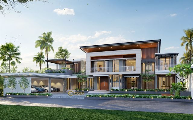Desain Rumah Modern 2 Lantai Ibu Sarah di Rangkasbitung, Banten