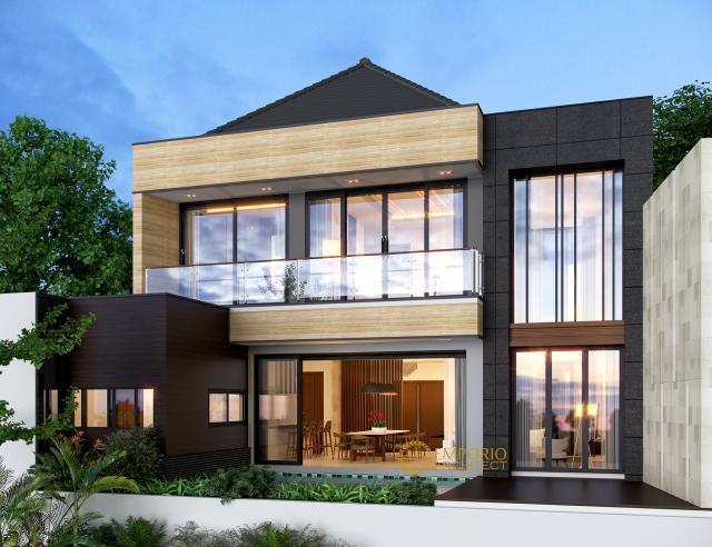 Desain Tampak Belakang Rumah Modern 2 Lantai Bapak Kiki di Semarang, Jawa Tengah