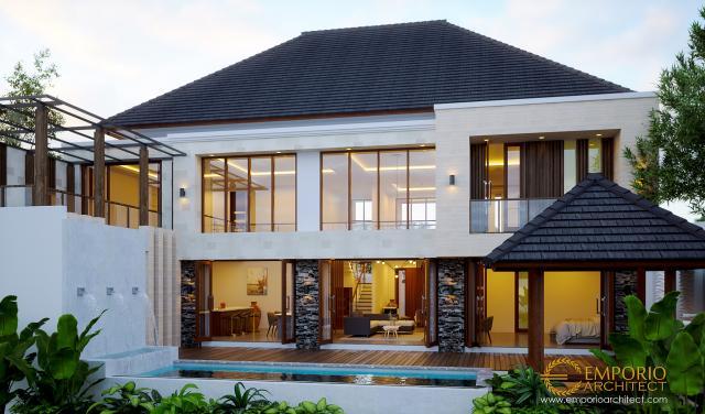 Desain Tampak Belakang Rumah Modern 2 Lantai Bapak Nelson di Sumatera Utara