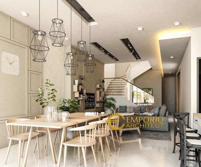 Desain Ruang Makan dan Ruang Kelaurga Rumah Ibu Ratih di Surabaya