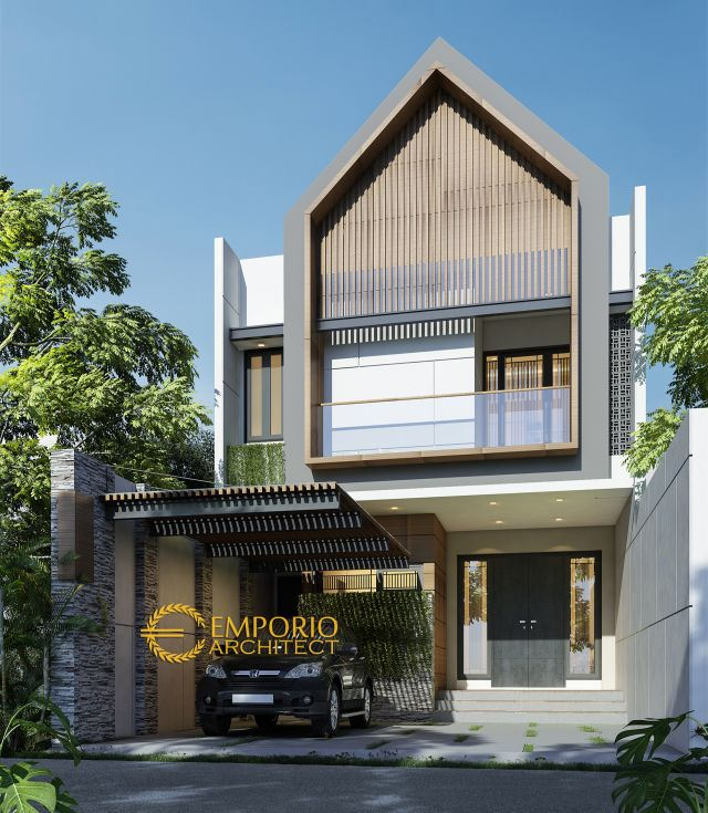Desain Rumah Modern 2 Lantai Ibu Ratih di Surabaya