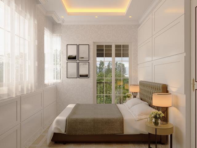 Desain Kamar Tidur 1 Rumah Hook Classic 2 Lantai Bapak Oscar di Tangerang, Banten