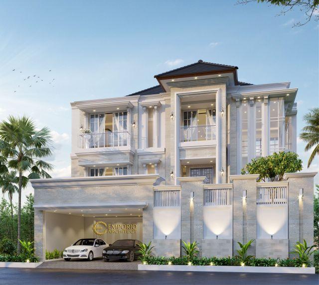 Desain Rumah Classic 2 Lantai Ibu Siska di  Tangerang