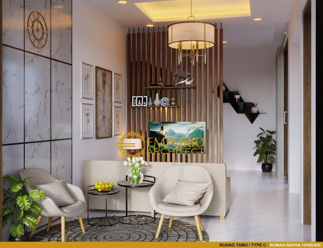 Desain Ruang Tamu Type C Perumahan The Wimala by Gemintang Land di Tangerang Selatan, Banten