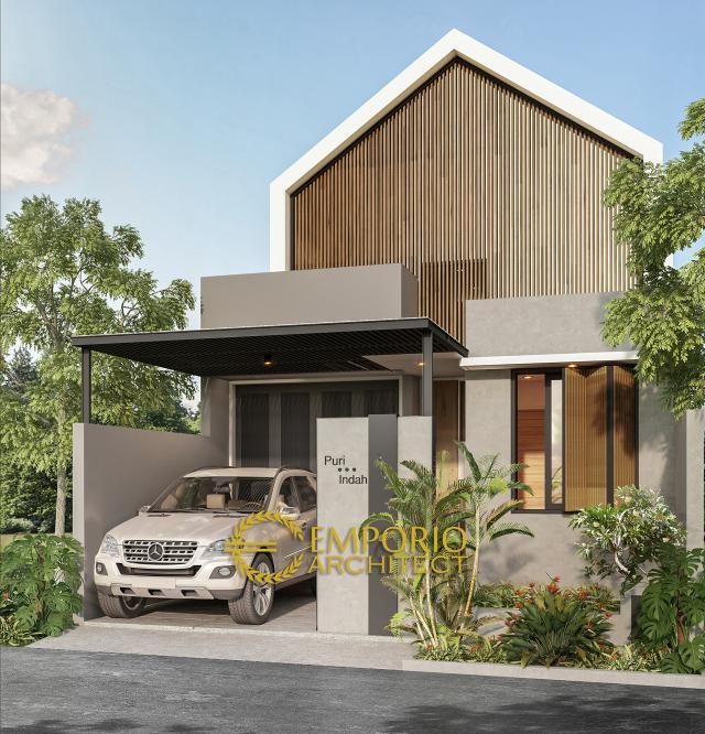 Desain Tampak Depan Rumah Modern 1 Lantai Type 86 di Bintaro, Tangerang Selatan, Banten