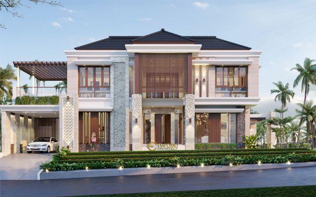 Desain Rumah Villa Bali 2 Lantai Ibu Verawaty di Tangerang Selatan, Banten