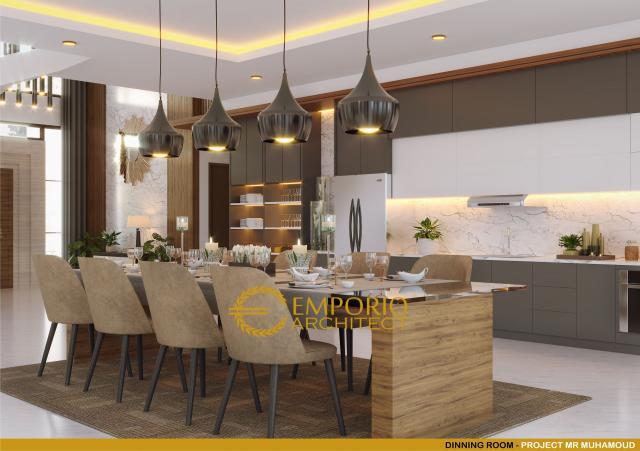 Desain Ruang Makan Rumah Villa Bali 2 Lantai Mr. Mohamoud di Tanzania