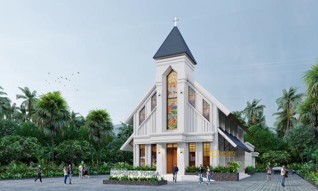 Desain Exterior 1 Gereja Naipospos Tonga Classic 2 Lantai di Tapanuli, Sumatera Utara