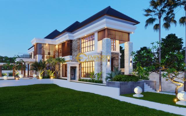Desain Rumah Villa Bali 2 Lantai Ibu Maharani di Ubud, Bali