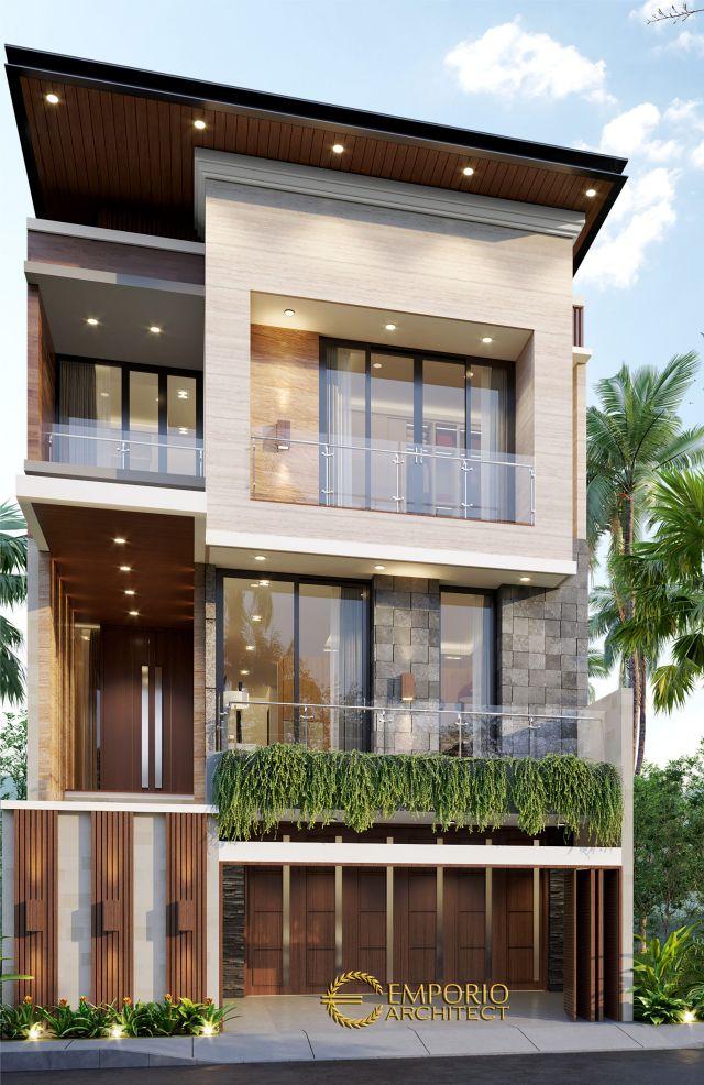 Desain Rumah Modern 3 Lantai Bapak Aprian di Yogyakarta