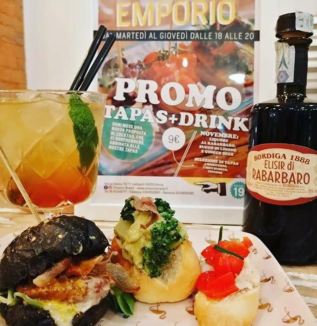 Liquore al rabarbaro, ginger beer e succo di limone🍋🍋🍋🍋per un cocktail esclusivoAbbinato ad un mini Nerone Burger , ad un soffice maritozzo e ad un goloso Pinchos l'aperitivo è davvero perfetto!🏼PROMO TAPAS+DRINK 9€solo dal martedì al giovedì dalle 18 alle 20!#emporioconceptstore #superfood #drink #cocktail #aperitivo #ladispoli