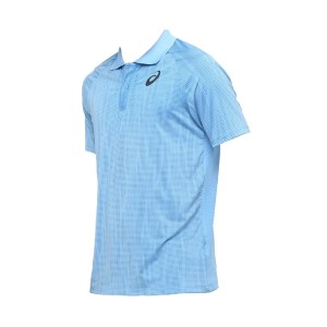 Camiseta Polo Asics Tennis Challenger Masculina Azul