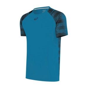 Camiseta Asics Tennis Challenger Print Masculina Azul Escuro