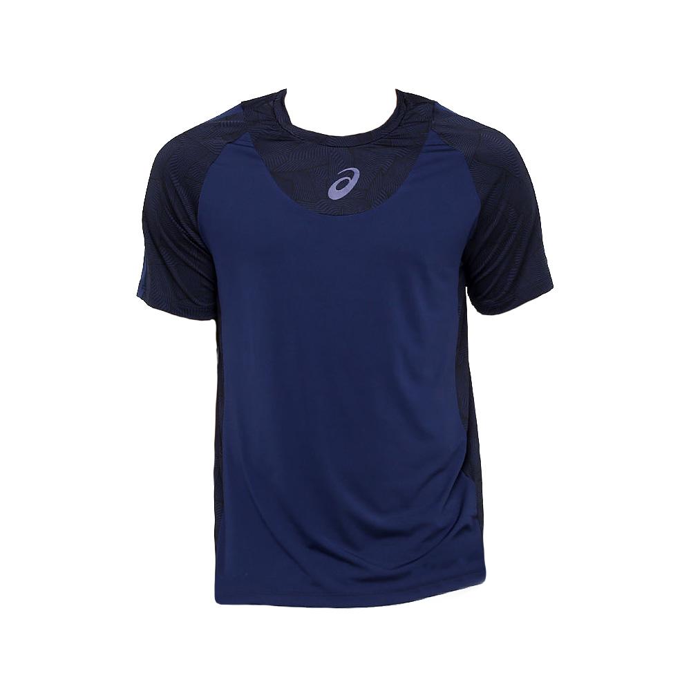 1a3509b963 Camiseta Asics Tennis Resolution Masculina Azul Marinho - Empório ...