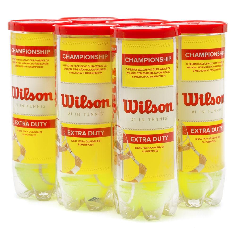 d82b2f0d1c Bola de Tênis Wilson Championship Pack com 6 Tubos - Empório do Tenis