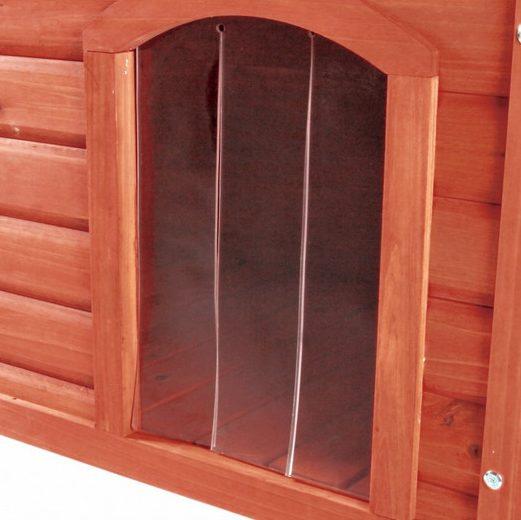 porta-pvc per cuccia in legno