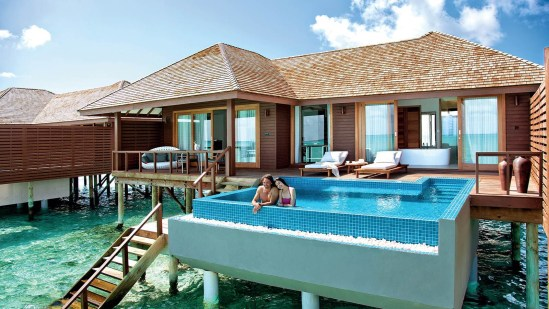 Hideaway Beach Resort Deluxe Water Villa With Pool Dhonakulhi Island