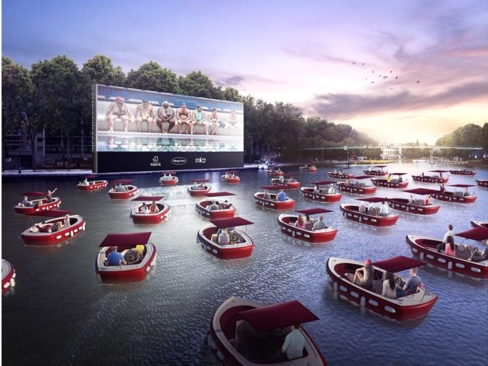 Paris Le Cinema Sur L'eau-A Floating Cinema
