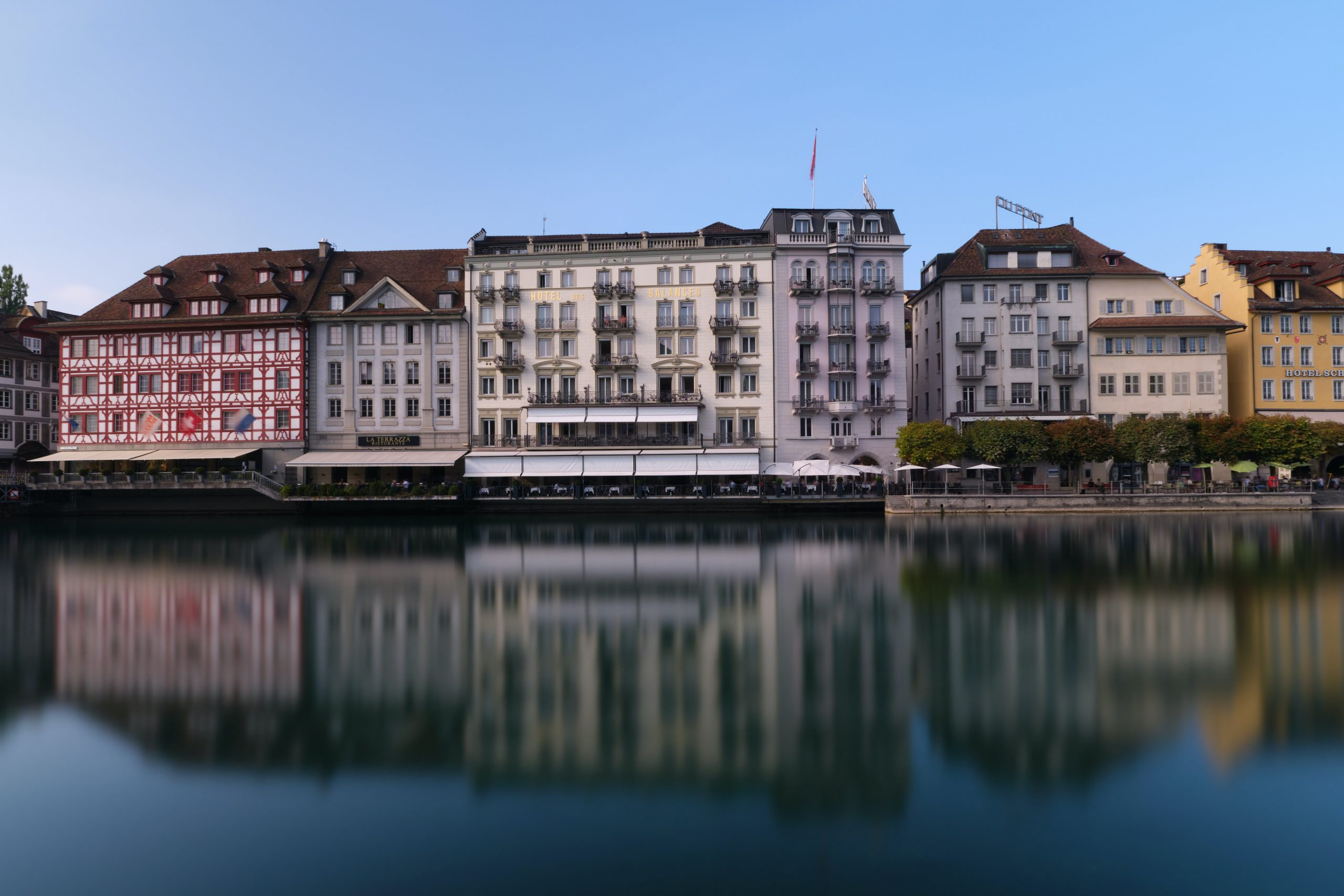 Lucerne Amid the Snowcapped Mountains on lake Lucerne